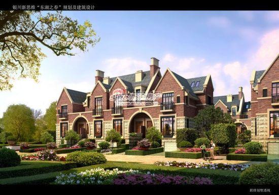以欧式英伦建筑风格,英式景观打造的别墅,花园洋房,电梯小高层组成170